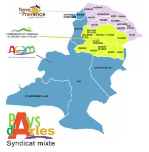 Carte Pays d'Arles